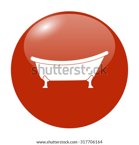 Bathtub Icon. Flat design style eps 10