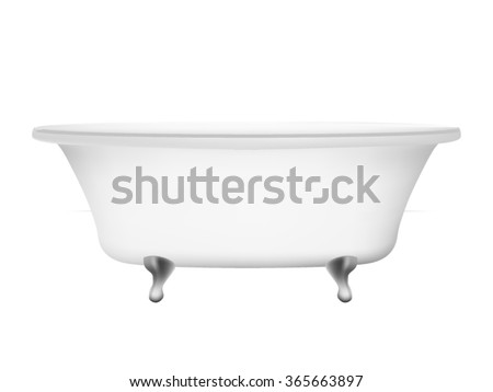 Bathtub isolated on white background
