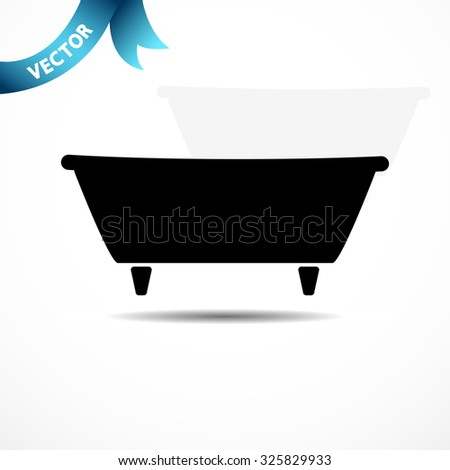 bathtub. vector illustration