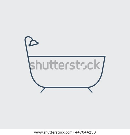 Bathtub Vector Line Icon. Eps.-10.