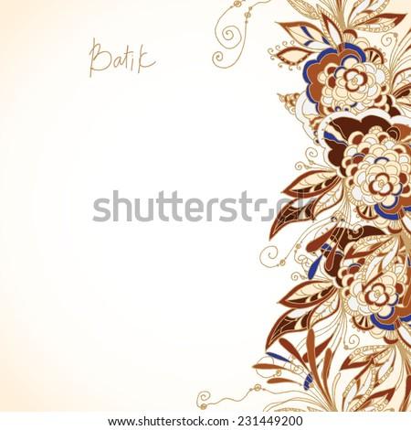Background Batik Bunga Batik Background Stock