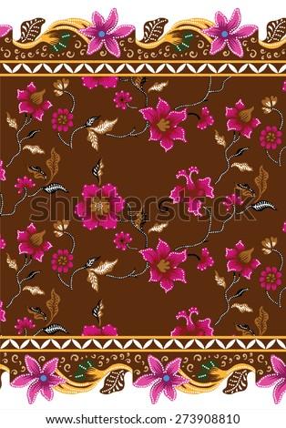 Batik pattern. The pattern vintage design background. - stock vector