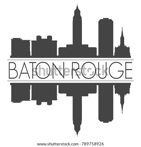 baton rouge louisiana usa skyline vector stock photo photo vector rh shutterstock com Night Skyline Louisiana Skyline Forum