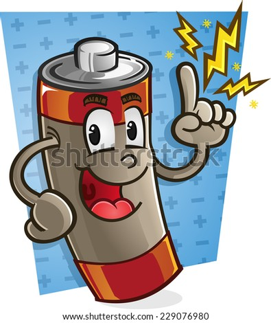 Battery Cartoon Character