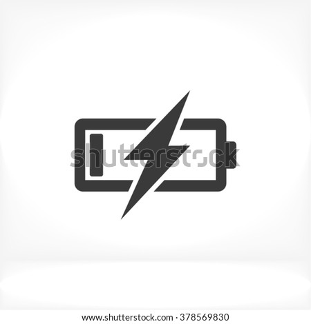 Battery Charging Icon, battery Charging icon flat, battery Charging icon picture, battery Charging icon vector, battery Charging icon EPS10, battery Charging icon graphic, battery Charging icon object - stock vector