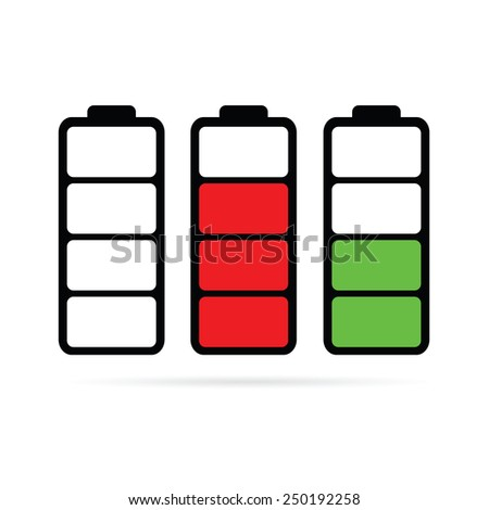 battery color vector illustration - stock vector