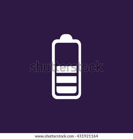 Battery half icon . Vector illustration - stock vector