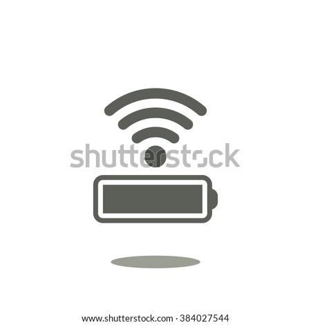 battery Icon, battery Icon Vector, battery Icon JPG, battery Icon JPEG, battery Icon EPS, battery Icon design. power management through a wi-fi network. icon. vector design - stock vector