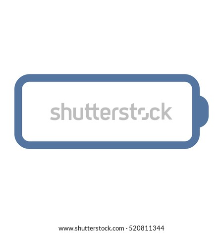 Battery Icon Vector flat design style
