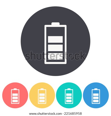 battery icon,vector illustration - stock vector