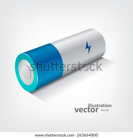 Battery Icon, Vector Illustration eps10, Graphic Concept  For Your Design. - stock vector
