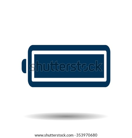 battery icon, vector illustration. Flat design style - stock vector