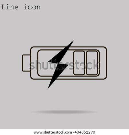 Battery icons - stock vector