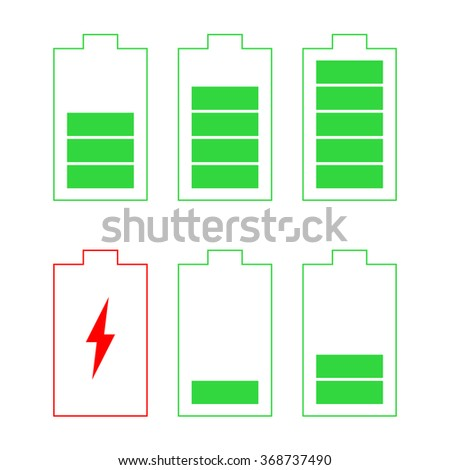 Battery Icons, vector - stock vector