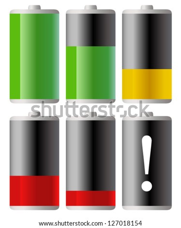 Battery Indicators - stock vector