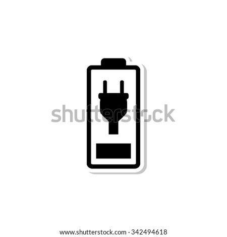 Battery is charging - vector icon with shadow