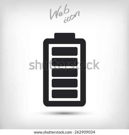 Battery load  icon, vector illustration. Flat design style - stock vector
