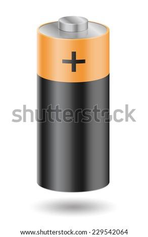 Battery on white - vector illustration - stock vector