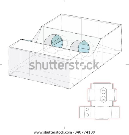 Battery Packaging Die Cut Template Stock Vector (Royalty Free ...