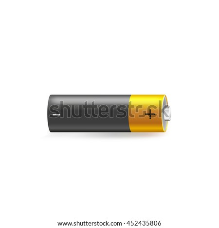 Battery Plus Minus Symbol Vector Illustration Stock Vector 452435806