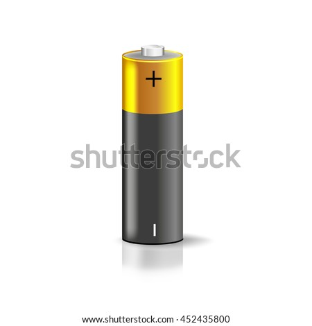 Battery Plus Minus Symbol Vector Illustration Stock Vector 452435800