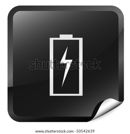 Battery power button. vector - stock vector