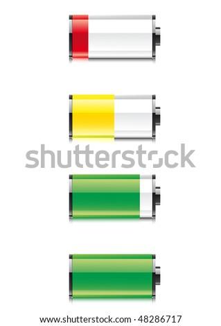 Battery symbol on white background - stock vector