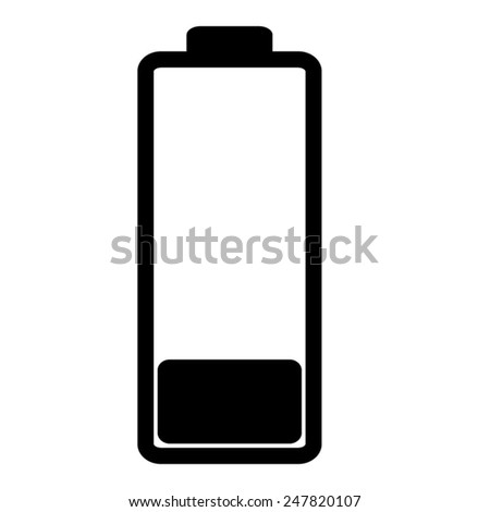 Battery - vector icon, flat design