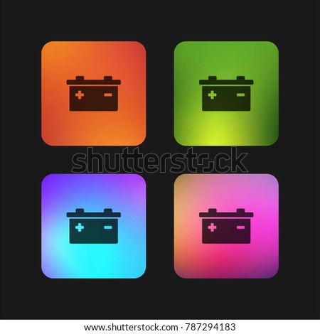 Battery Positive Negative Poles Symbols Four Stock Vector 787294183 ...