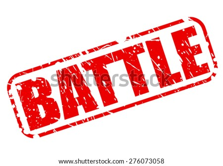 Battle red stamp text on white - stock vector