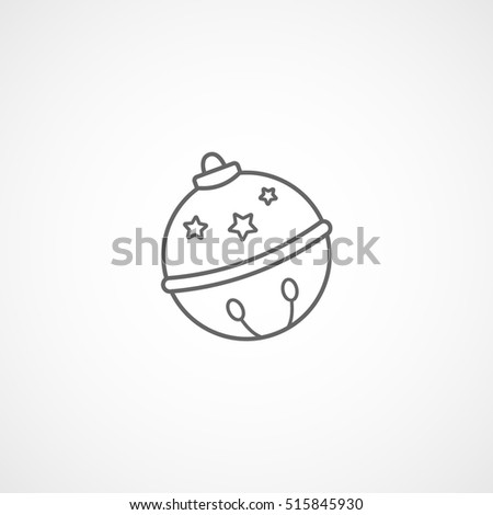 Bauble Christmas New Year Line Icon On White Background