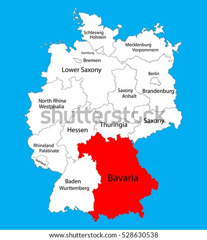 Sachsen Map Saxony State Germany Vector Stock Vector - Germany map of provinces