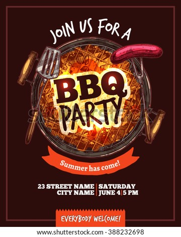 bbq poster