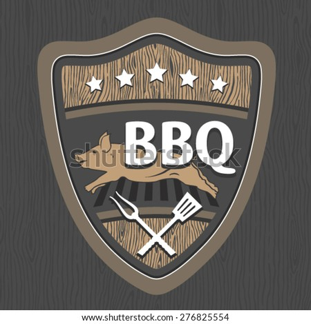 BBQ emblem design - stock vector