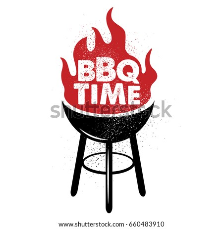 Vintage Bbq Grill Party Stock Vector 95109517 - Shutterstock