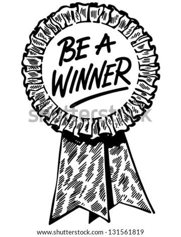 Be Winner Ribbon Retro Clip Art Stock Vector 131561819 ...