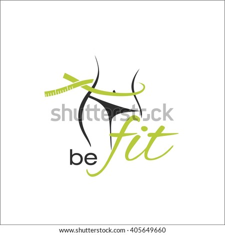 Be fit - stock vector