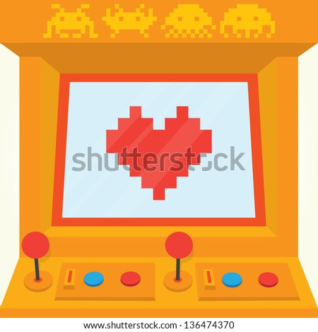 Be my retro valentine isolated vector - stock vector