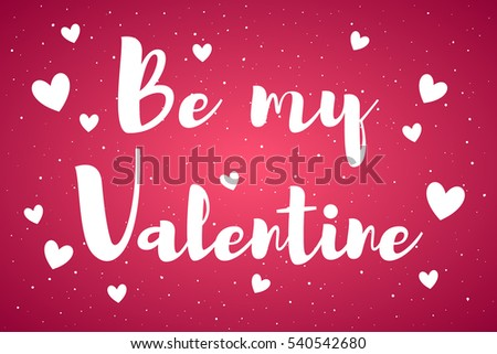 Be my valentine card greetings valentines stock vector 540542680 be my valentine card with greetings valentines day illustration uneven dots grunge background m4hsunfo