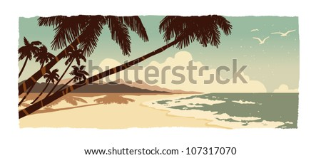 Beach - stock vector