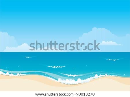 Beach background - stock vector