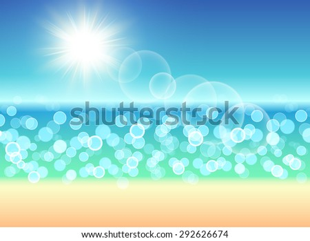 Beach blur background. Vector illustration. - stock vector
