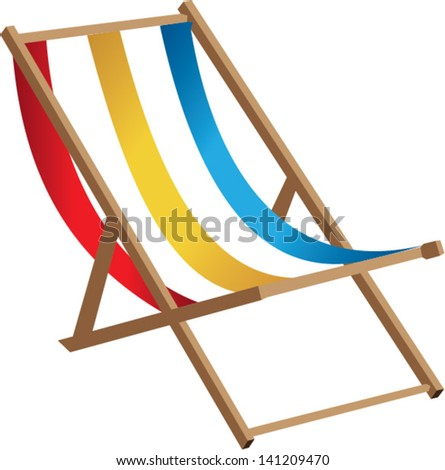 Beach chair - stock vector