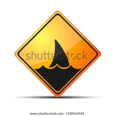 Beach closed - stock vector
