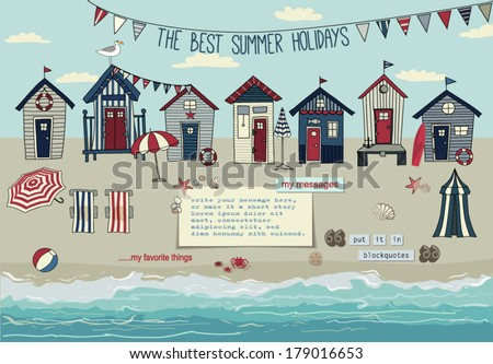 huts on the beach essay Stilt houses are houses raised on piles over the surface of the soil or a body of waterstilt houses are built primarily as a protection against flooding, and they also keep out vermin the shady space under the house can be used for work or storage.