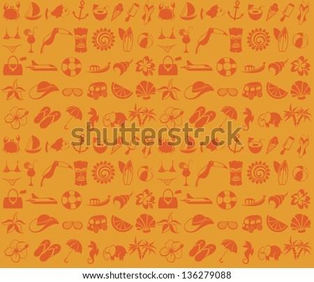 Beach pattern - stock vector