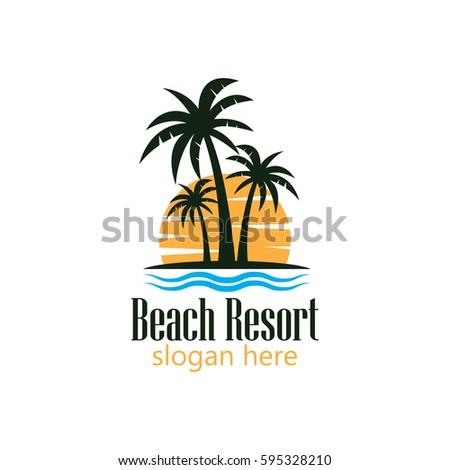 Beach Logo Stock Vector 539112979 - Shutterstock