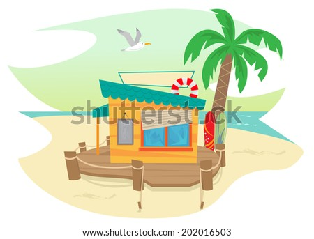 Beach Shack Stock Images Royalty Free Vectors