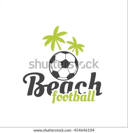 Beach soccer - stock vector