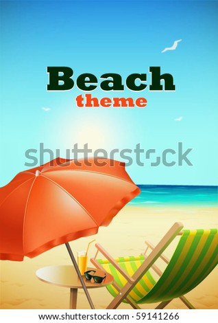 Beach theme - stock vector